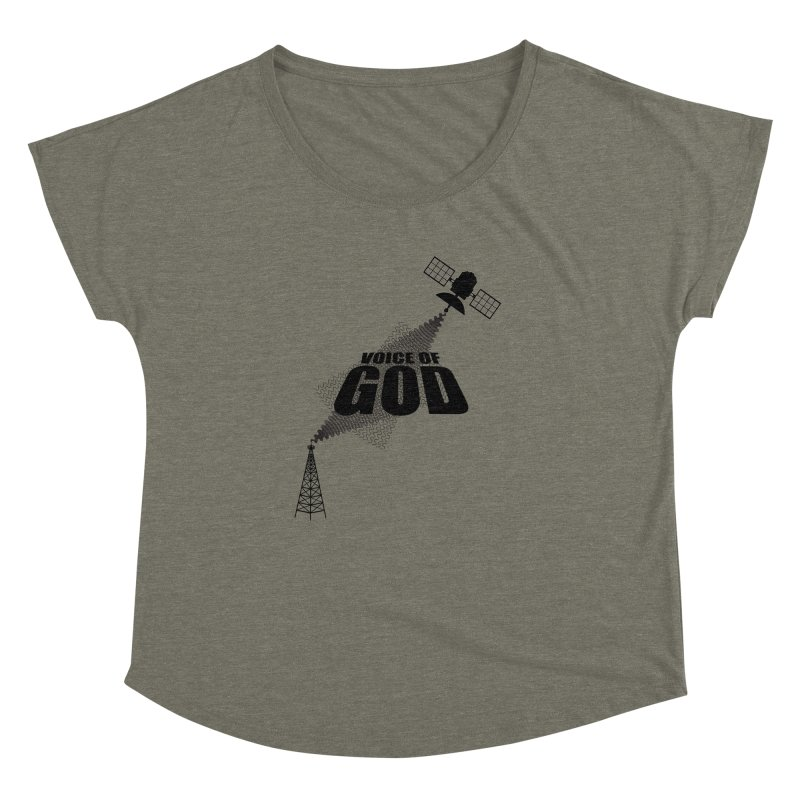 Voice of God - Light Women's Dolman Scoop Neck by Aspect Black™