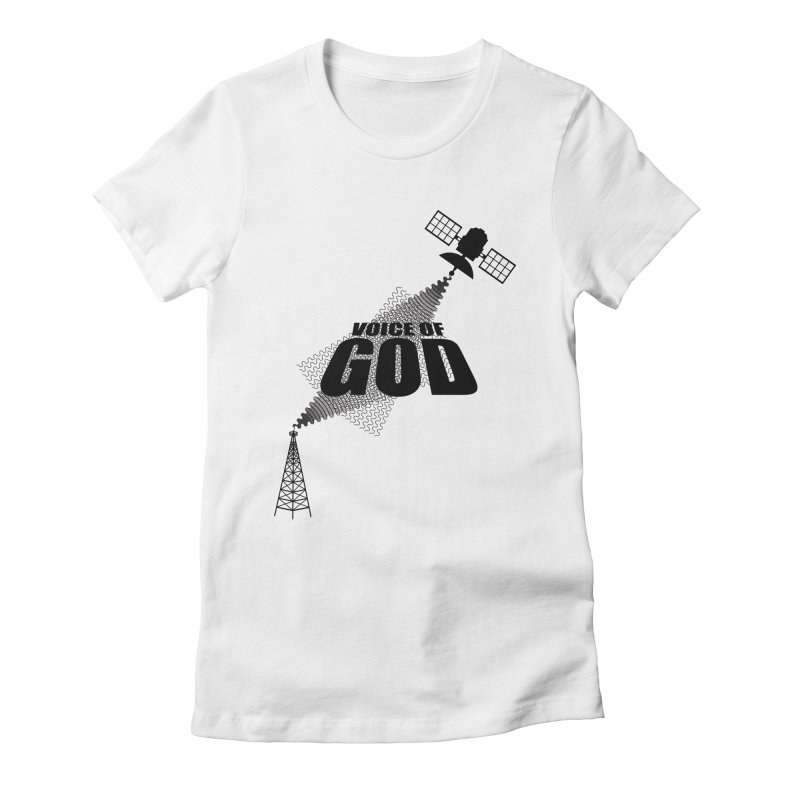 Voice of God - Light Women's Fitted T-Shirt by Aspect Black™
