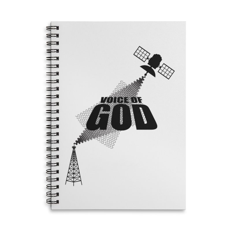 Voice of God - Light Accessories Lined Spiral Notebook by Aspect Black™