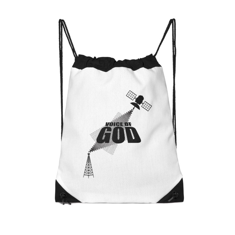 Voice of God - Light Accessories Drawstring Bag Bag by Aspect Black™
