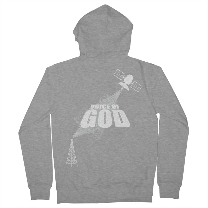 Voice of God - Dark Men's French Terry Zip-Up Hoody by Aspect Black™