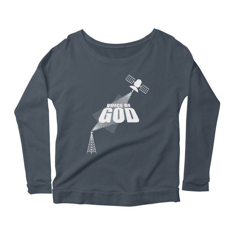 Voice of God - Dark Women's Scoop Neck Longsleeve T-Shirt by Aspect Black™
