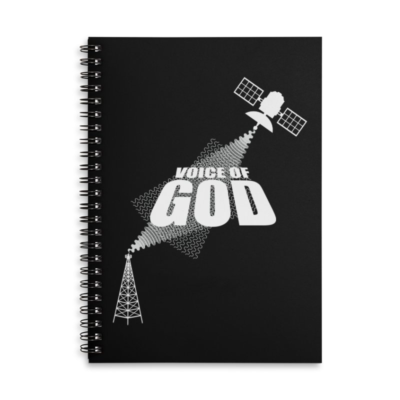Voice of God - Dark Accessories Lined Spiral Notebook by Aspect Black™