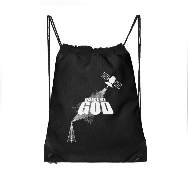 Voice of God - Dark Accessories Drawstring Bag Bag by Aspect Black™