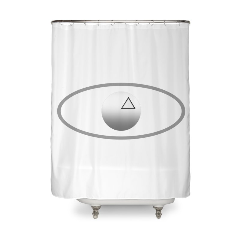 Universal Aspects™ Logo - Light Home Shower Curtain by Aspect Black™