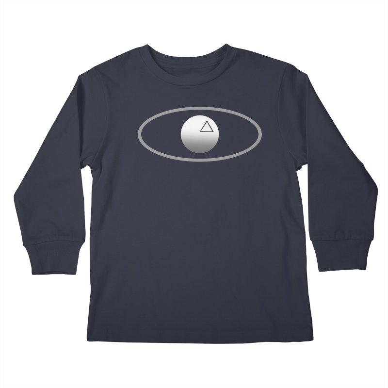 Universal Aspects™ Logo - Dark Kids Longsleeve T-Shirt by Aspect Black™