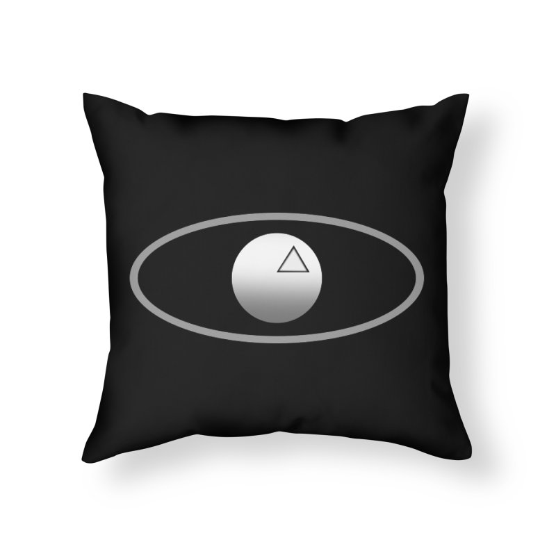 Universal Aspects™ Logo - Dark Home Throw Pillow by Aspect Black™
