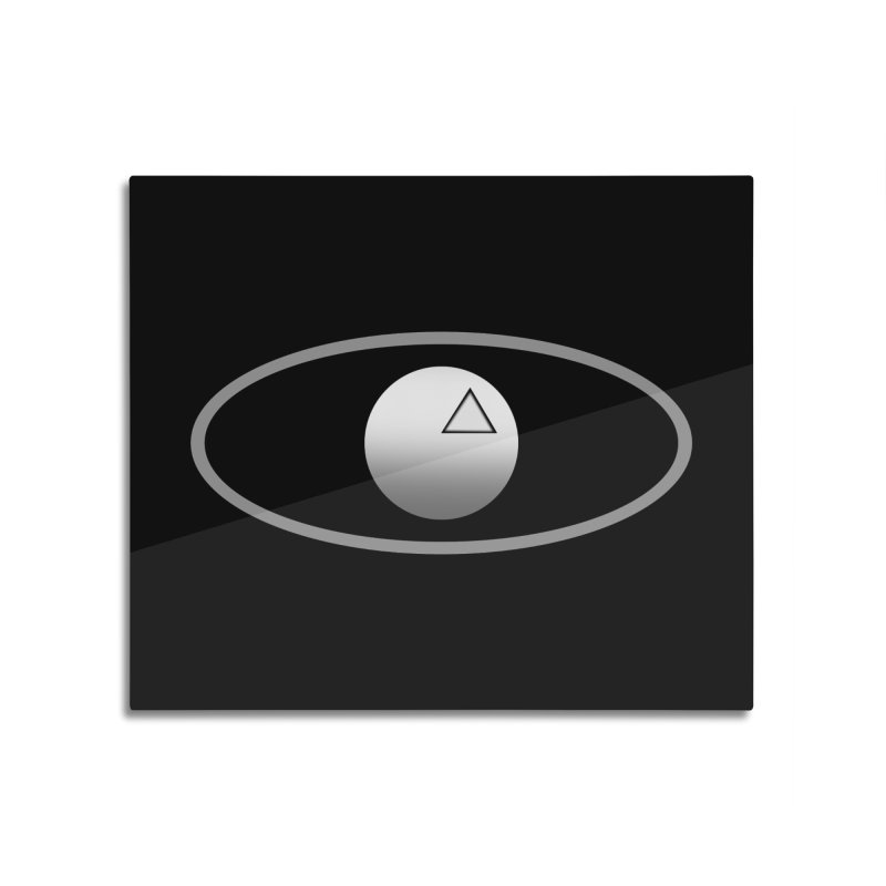 Universal Aspects™ Logo - Dark Home Mounted Aluminum Print by Aspect Black™