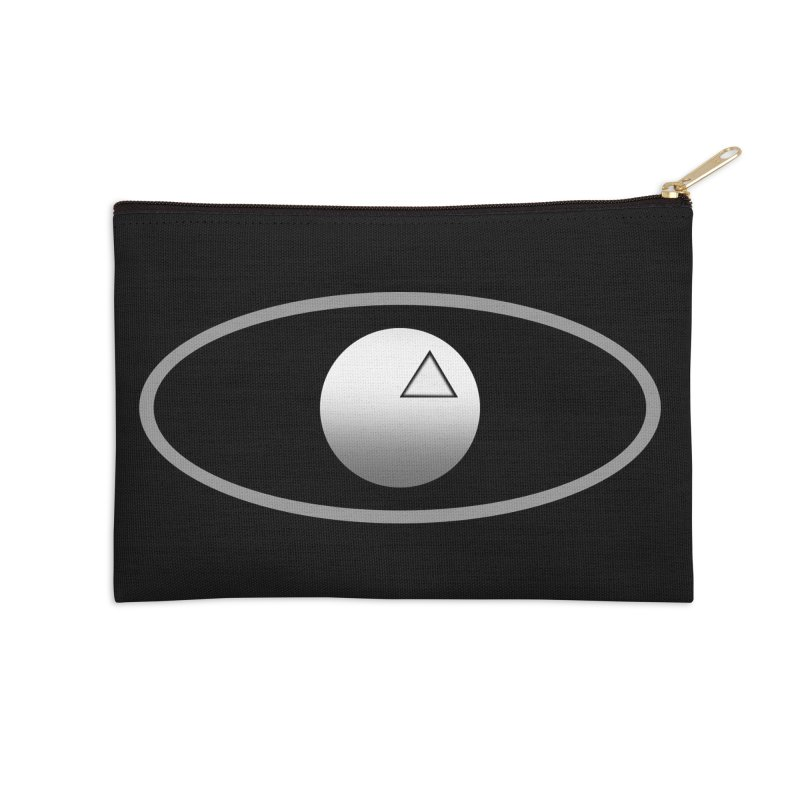 Universal Aspects™ Logo - Dark Accessories Zip Pouch by Aspect Black™