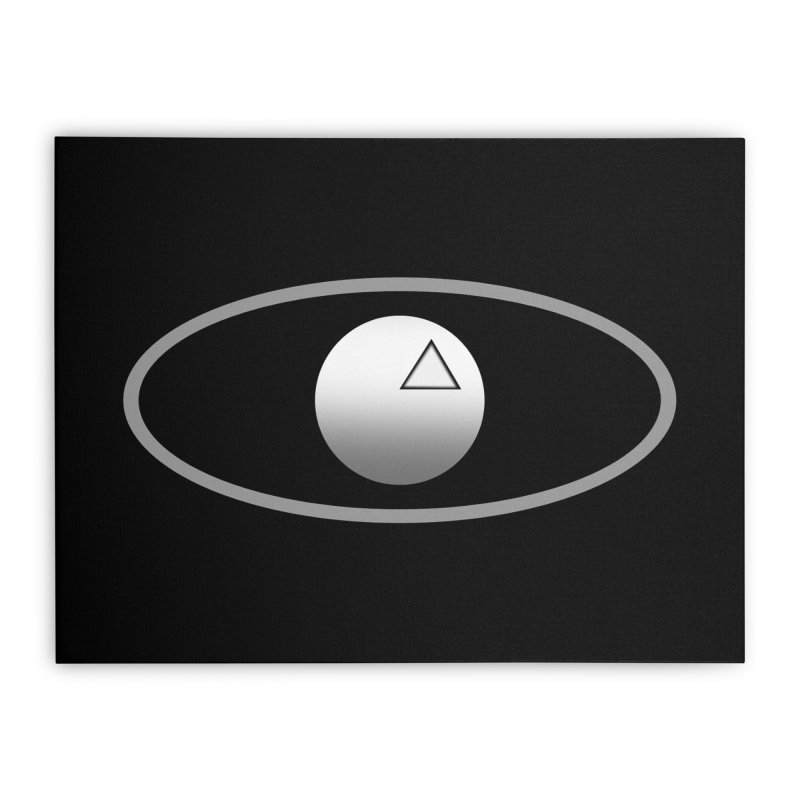Universal Aspects™ Logo - Dark Home Stretched Canvas by Aspect Black™