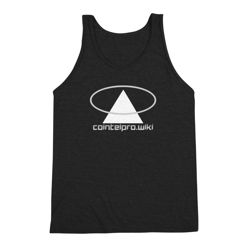 cointelpro.wiki Logo Apparel - Dark Men's Triblend Tank by Aspect Black™