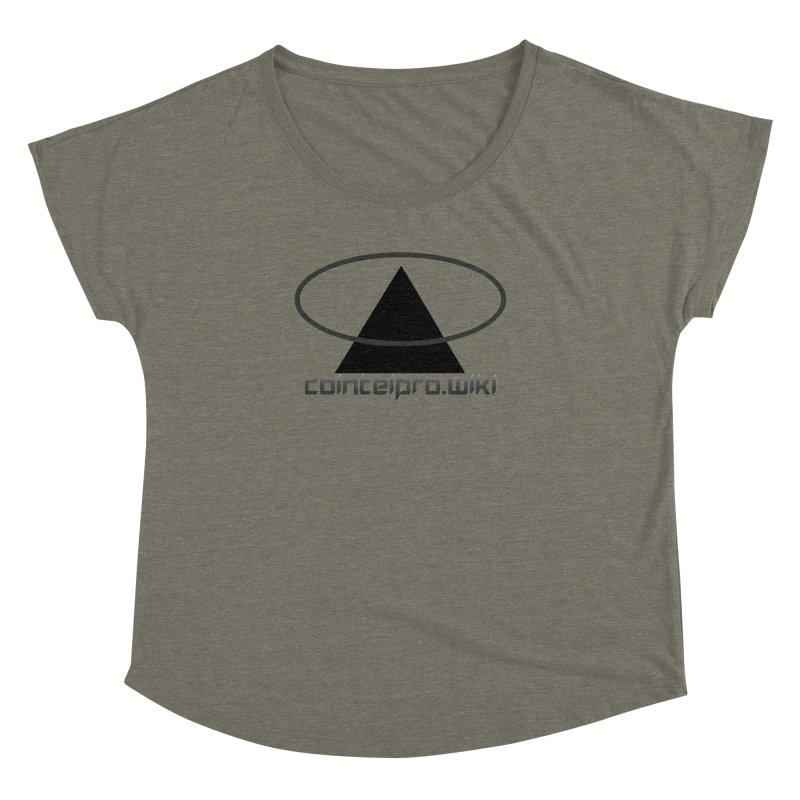 cointelpro.wiki Logo Apparel - Light Women's Dolman by Aspect Black™