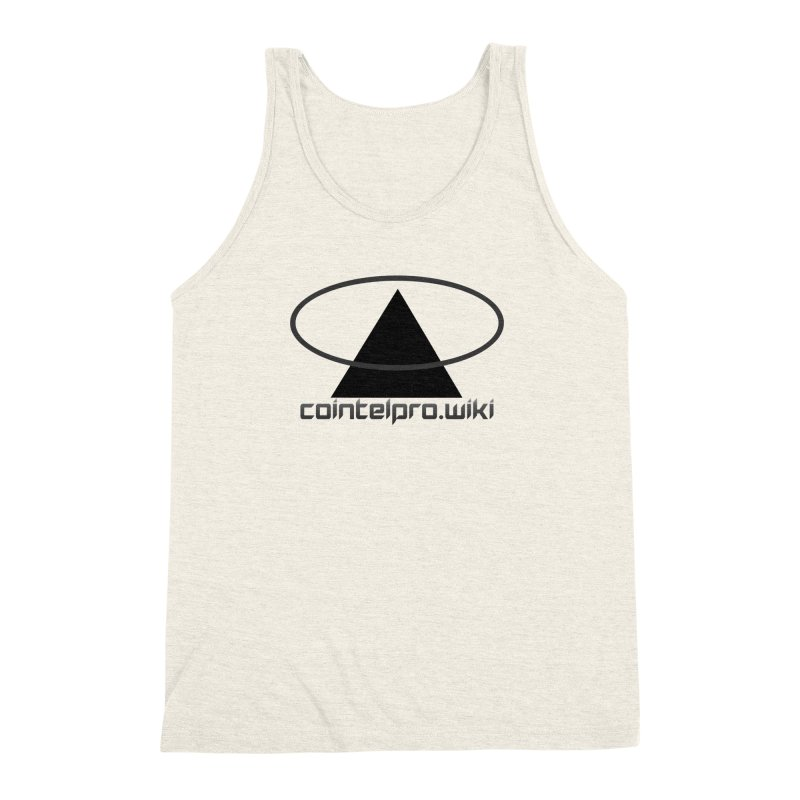 cointelpro.wiki Logo Apparel - Light Men's Triblend Tank by Aspect Black™