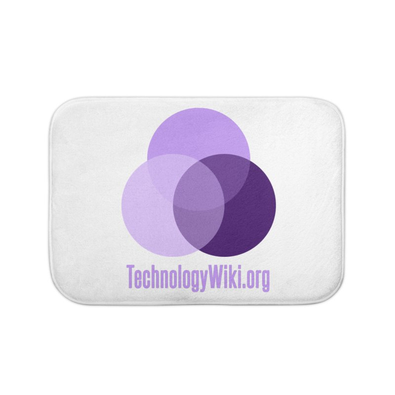 TechnologyWiki.org Logo Gear Home Bath Mat by Aspect Black™
