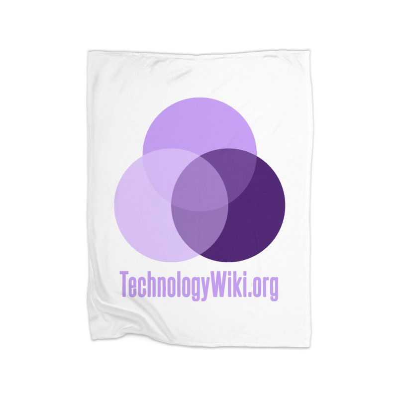 TechnologyWiki.org Logo Gear Home Blanket by Aspect Black™