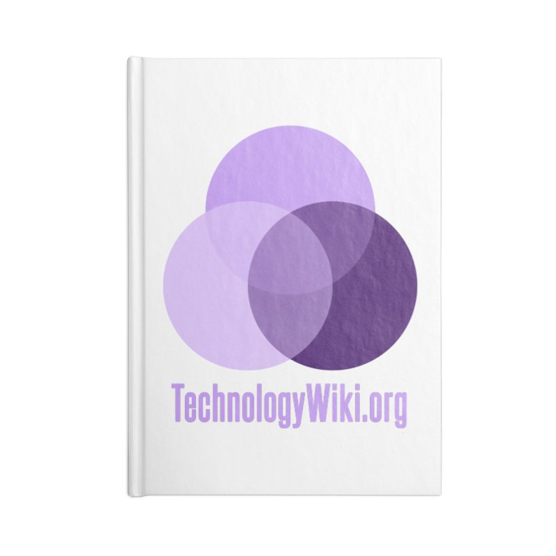 TechnologyWiki.org Logo Gear Accessories Notebook by Aspect Black™