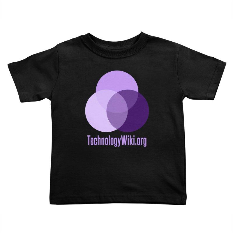 TechnologyWiki.org Logo Gear Kids Toddler T-Shirt by Aspect Black™