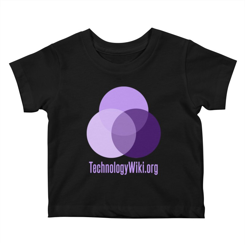 TechnologyWiki.org Logo Gear Kids Baby T-Shirt by Aspect Black™