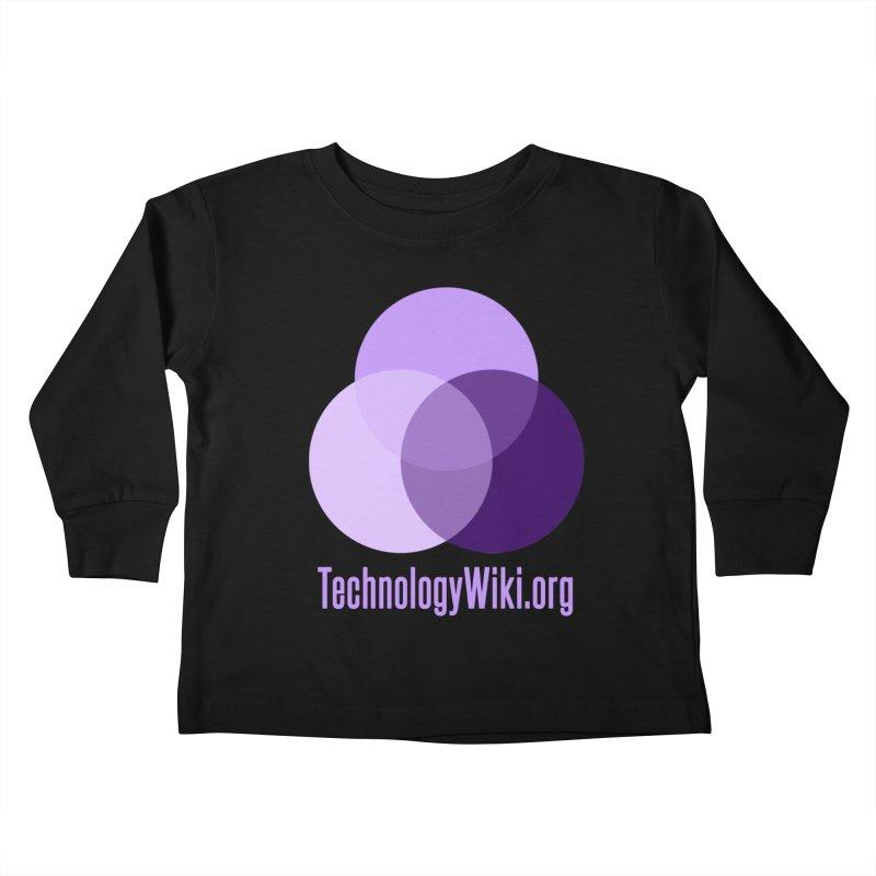 TechnologyWiki.org Logo Gear Kids Toddler Longsleeve T-Shirt by Aspect Black™