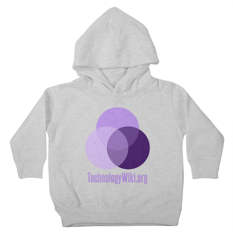 TechnologyWiki.org Logo Gear Kids Toddler Pullover Hoody by Aspect Black™
