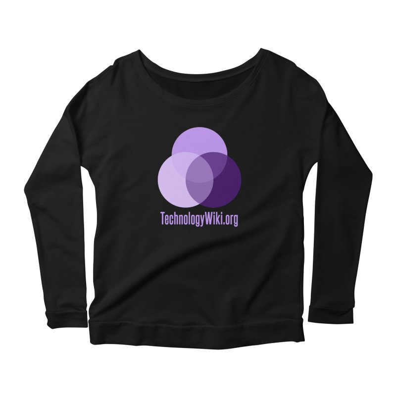 TechnologyWiki.org Logo Gear Women's Longsleeve Scoopneck  by Aspect Black™