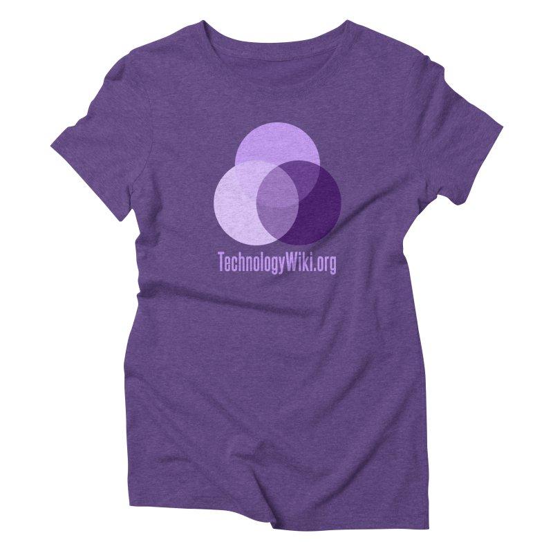 TechnologyWiki.org Logo Gear Women's Triblend T-Shirt by Aspect Black™