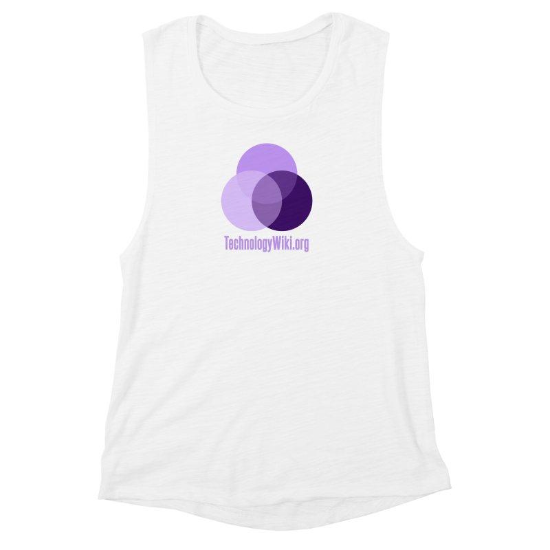 TechnologyWiki.org Logo Gear Women's Muscle Tank by Aspect Black™