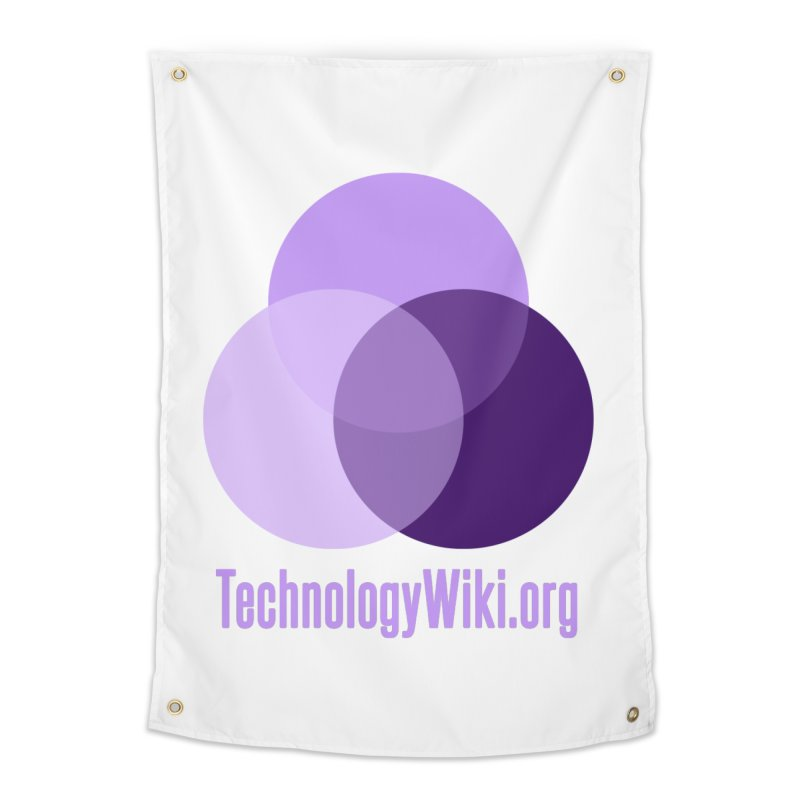 TechnologyWiki.org Logo Gear Home Tapestry by Aspect Black™