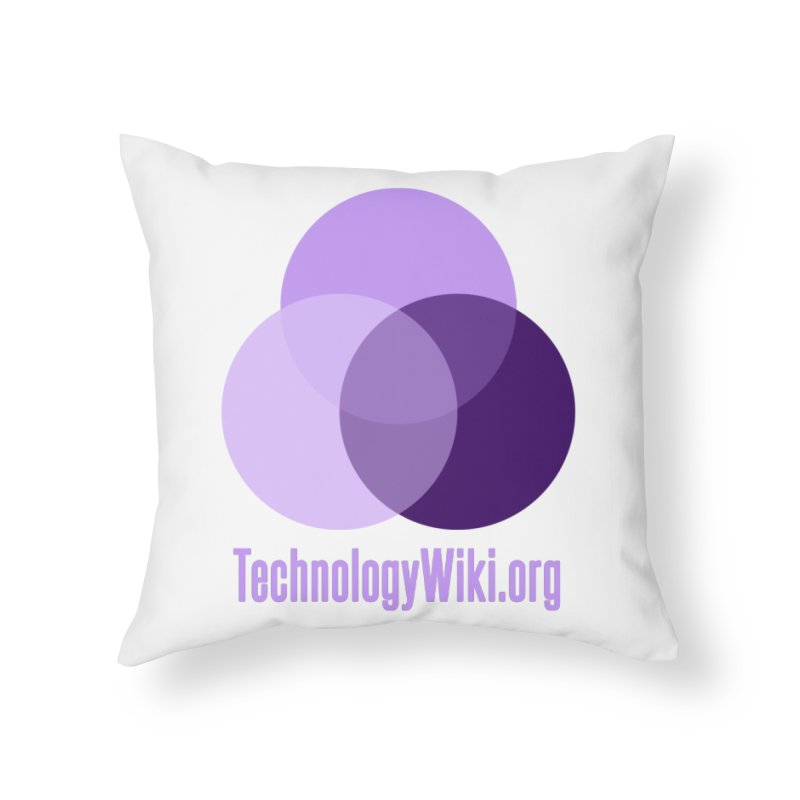 TechnologyWiki.org Logo Gear Home Throw Pillow by Aspect Black™