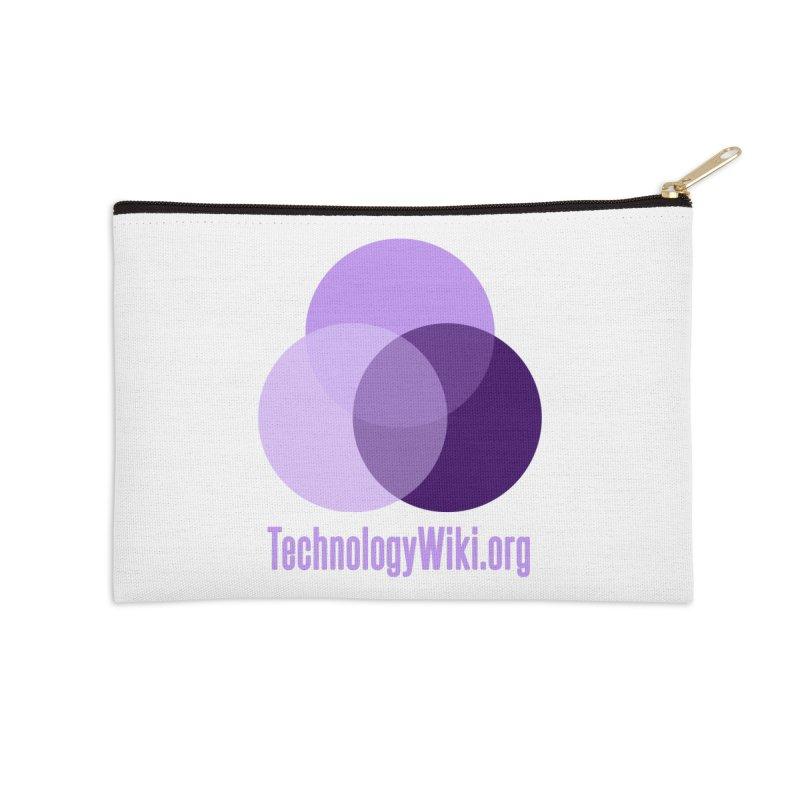 TechnologyWiki.org Logo Gear Accessories Zip Pouch by Aspect Black™