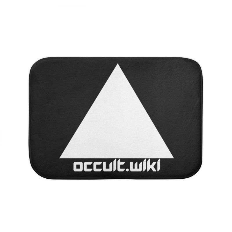 occult.wiki Logo Apparel - Dark Home Bath Mat by Aspect Black™
