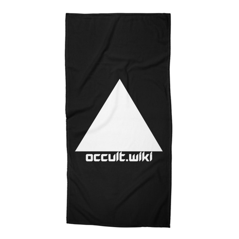occult.wiki Logo Apparel - Dark Accessories Beach Towel by Aspect Black™