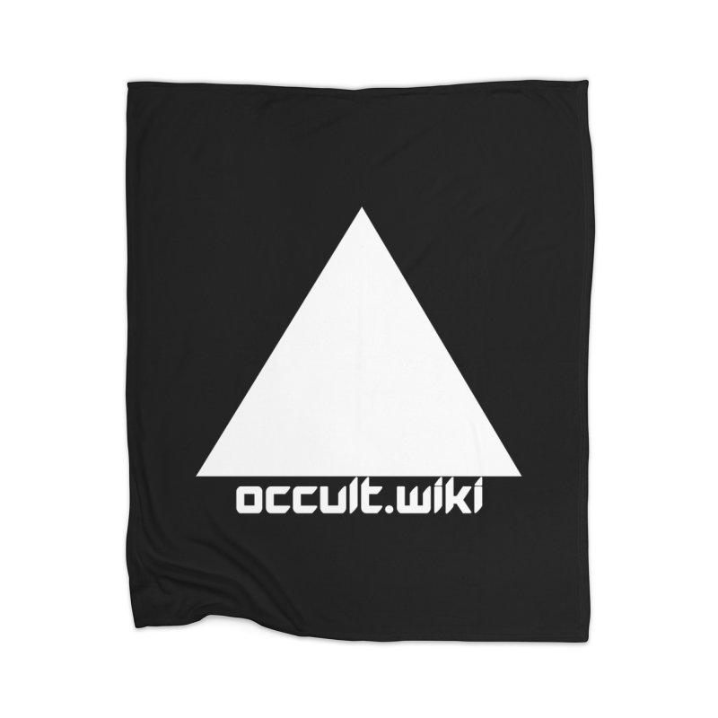 occult.wiki Logo Apparel - Dark Home Blanket by Aspect Black™