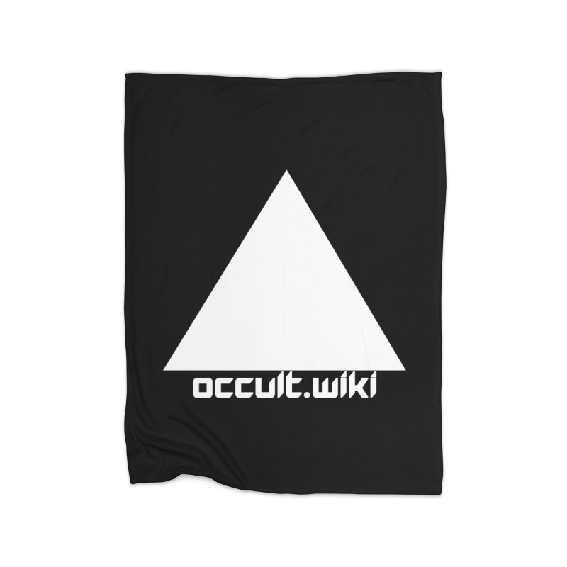 occult.wiki Logo Apparel - Dark Home Fleece Blanket Blanket by Aspect Black™