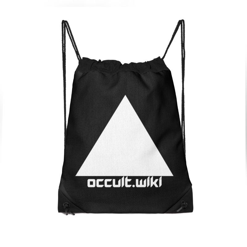 occult.wiki Logo Apparel - Dark Accessories Drawstring Bag Bag by Aspect Black™