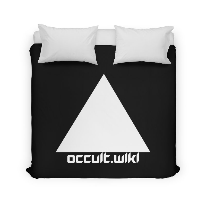 occult.wiki Logo Apparel - Dark Home Duvet by Aspect Black™