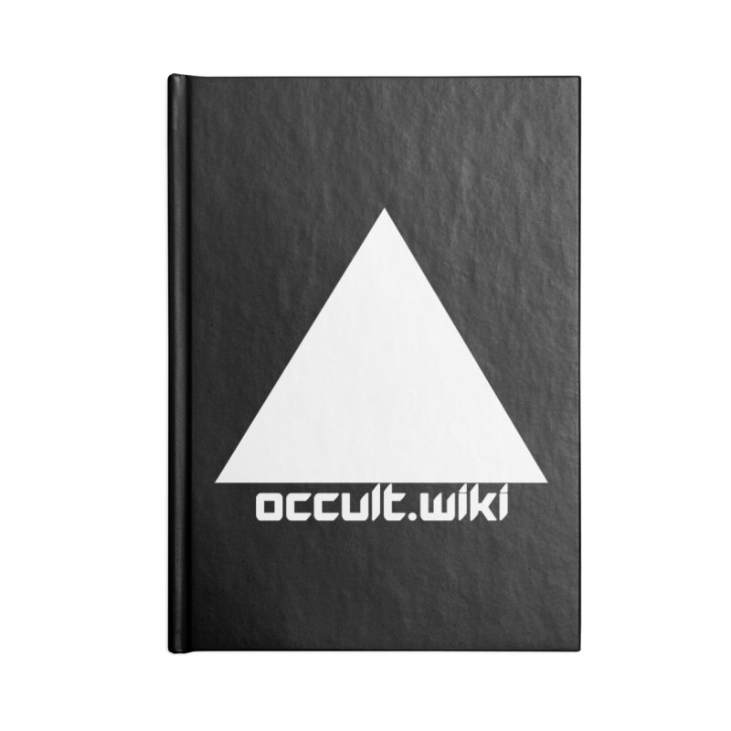 occult.wiki Logo Apparel - Dark Accessories Lined Journal Notebook by Aspect Black™