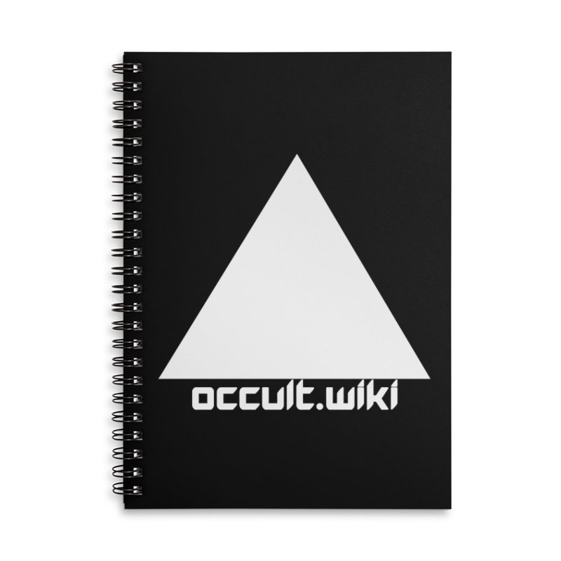 occult.wiki Logo Apparel - Dark Accessories Lined Spiral Notebook by Aspect Black™