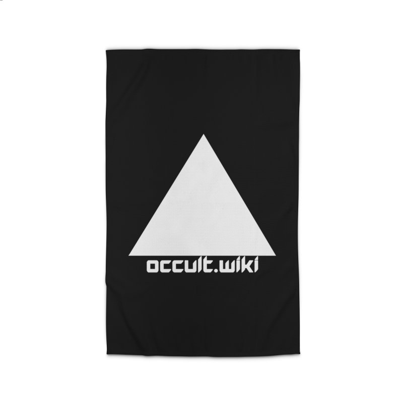 occult.wiki Logo Apparel - Dark Home Rug by Aspect Black™