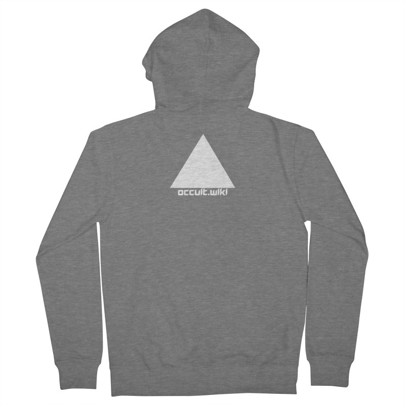 occult.wiki Logo Apparel - Dark Women's French Terry Zip-Up Hoody by Aspect Black™