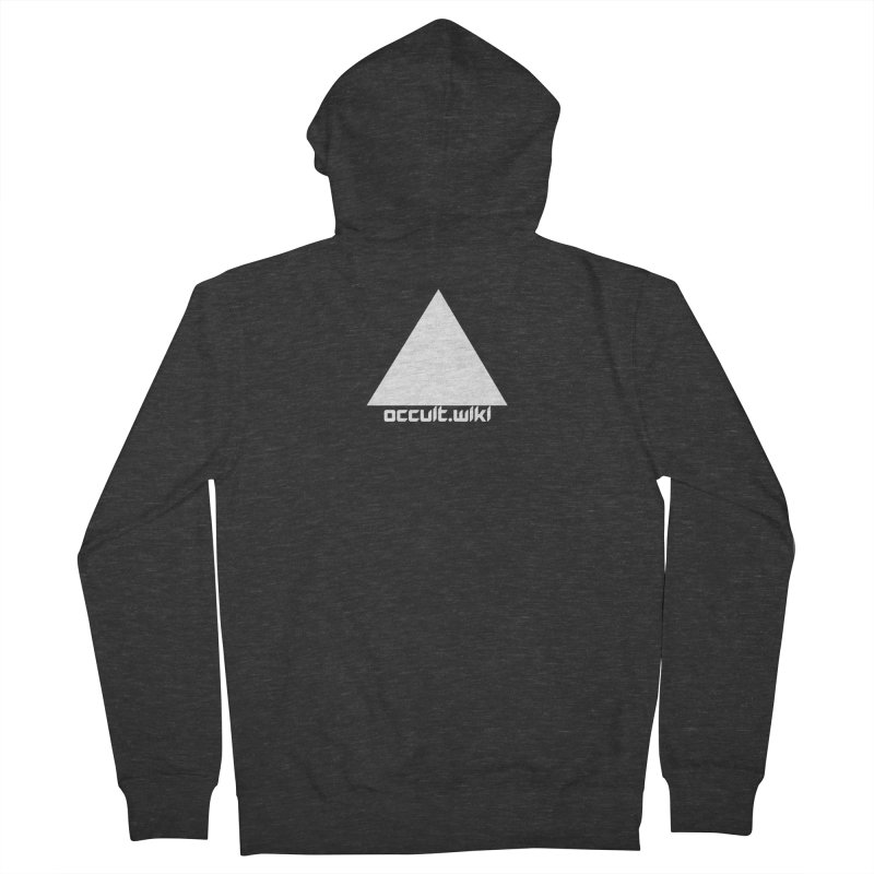 occult.wiki Logo Apparel - Dark Men's French Terry Zip-Up Hoody by Aspect Black™