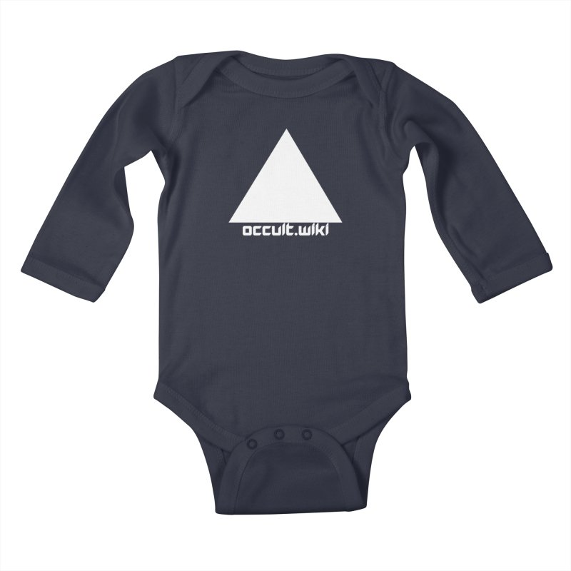 occult.wiki Logo Apparel - Dark Kids Baby Longsleeve Bodysuit by Aspect Black™