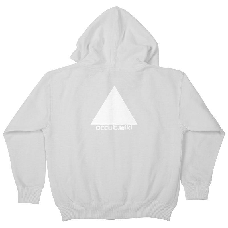 occult.wiki Logo Apparel - Dark Kids Zip-Up Hoody by Aspect Black™