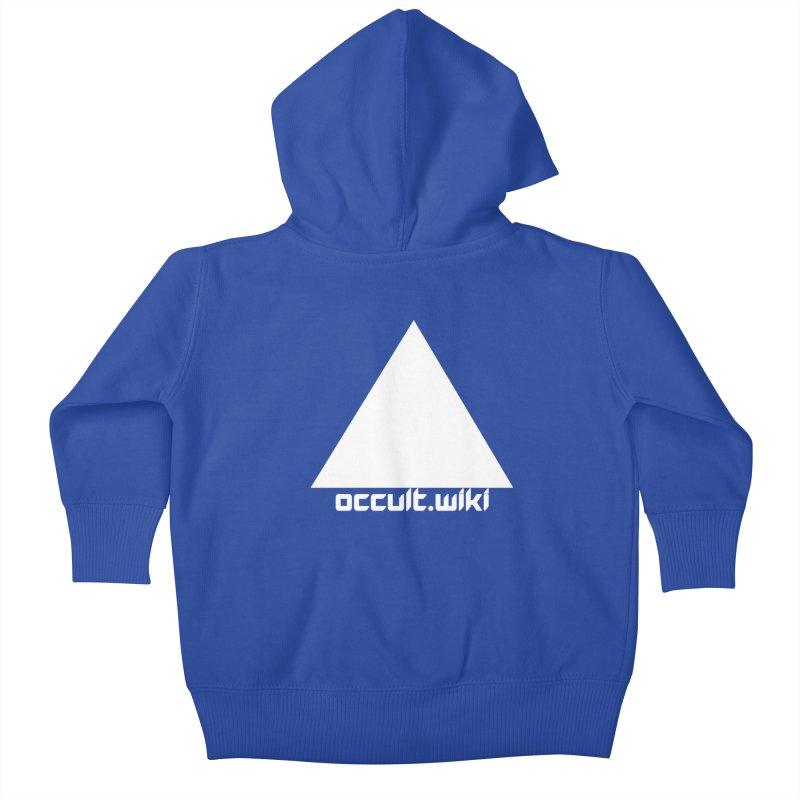 occult.wiki Logo Apparel - Dark Kids Baby Zip-Up Hoody by Aspect Black™