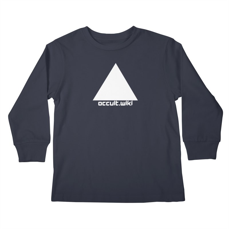 occult.wiki Logo Apparel - Dark Kids Longsleeve T-Shirt by Aspect Black™