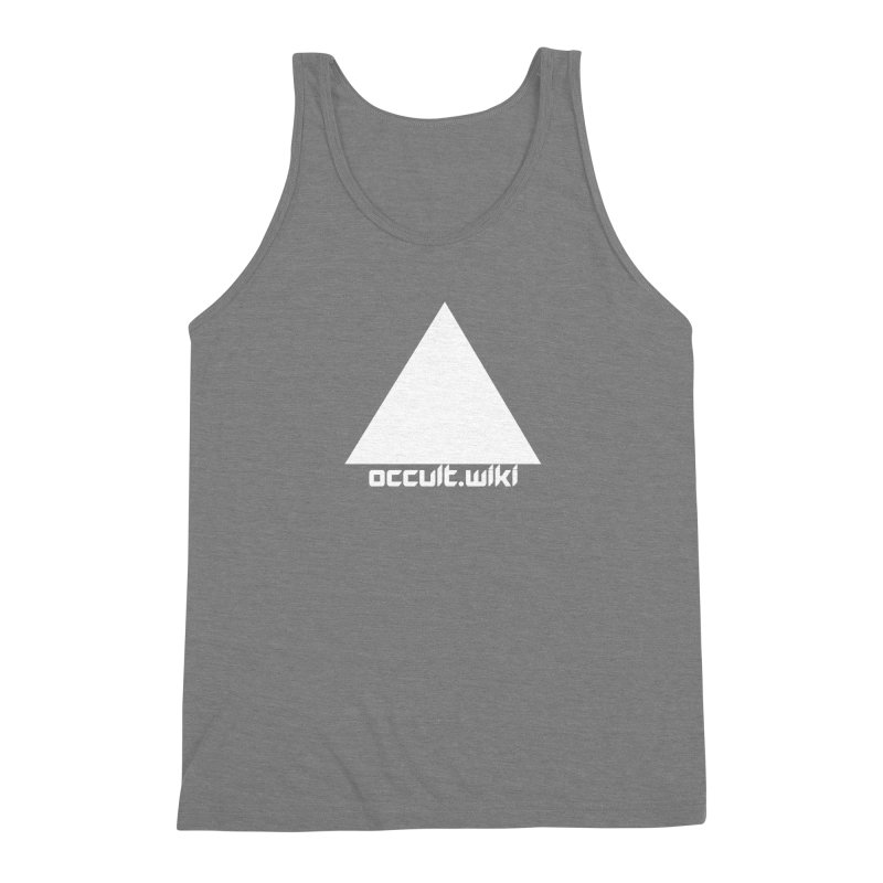 occult.wiki Logo Apparel - Dark Men's Triblend Tank by Aspect Black™