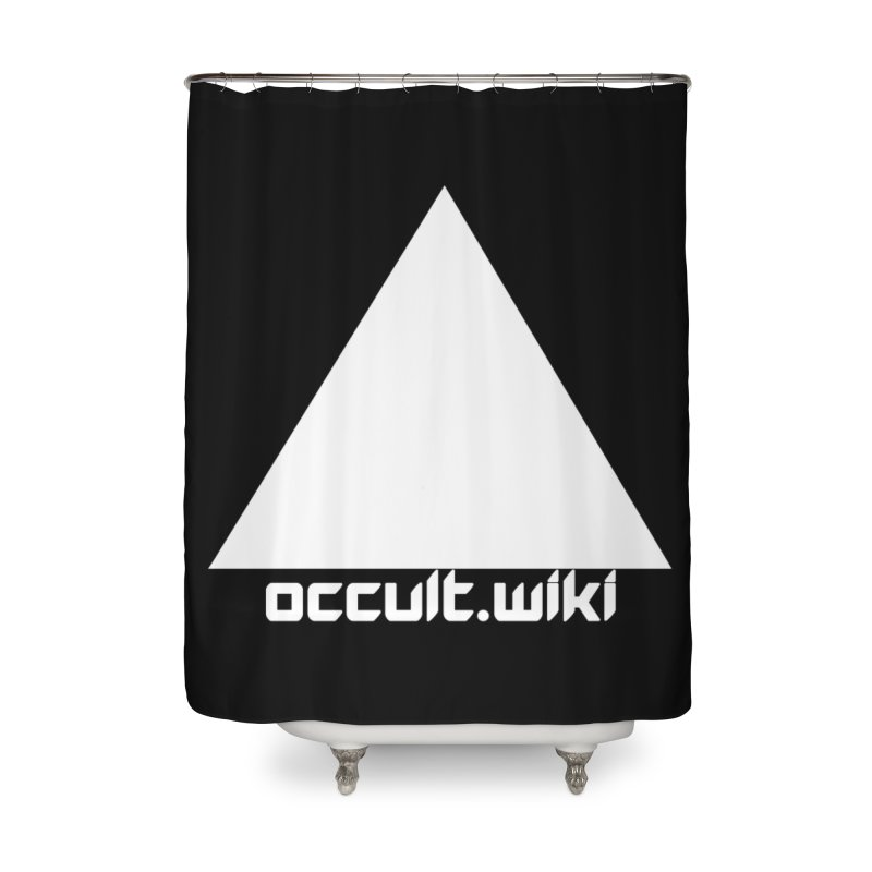 occult.wiki Logo Apparel - Dark Home Shower Curtain by Aspect Black™