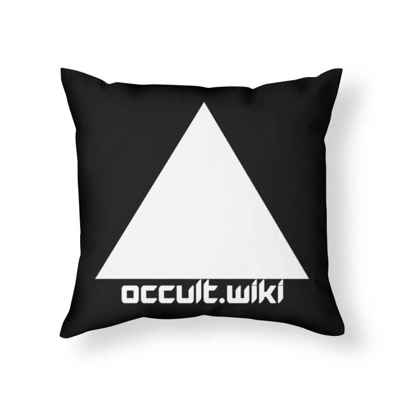 occult.wiki Logo Apparel - Dark Home Throw Pillow by Aspect Black™