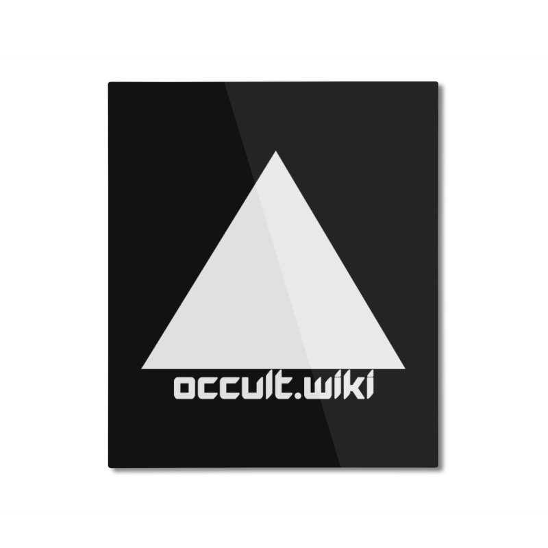 occult.wiki Logo Apparel - Dark Home Mounted Aluminum Print by Aspect Black™