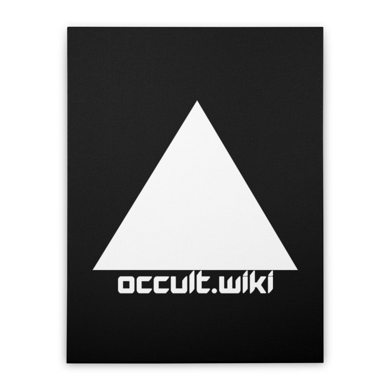 occult.wiki Logo Apparel - Dark Home Stretched Canvas by Aspect Black™